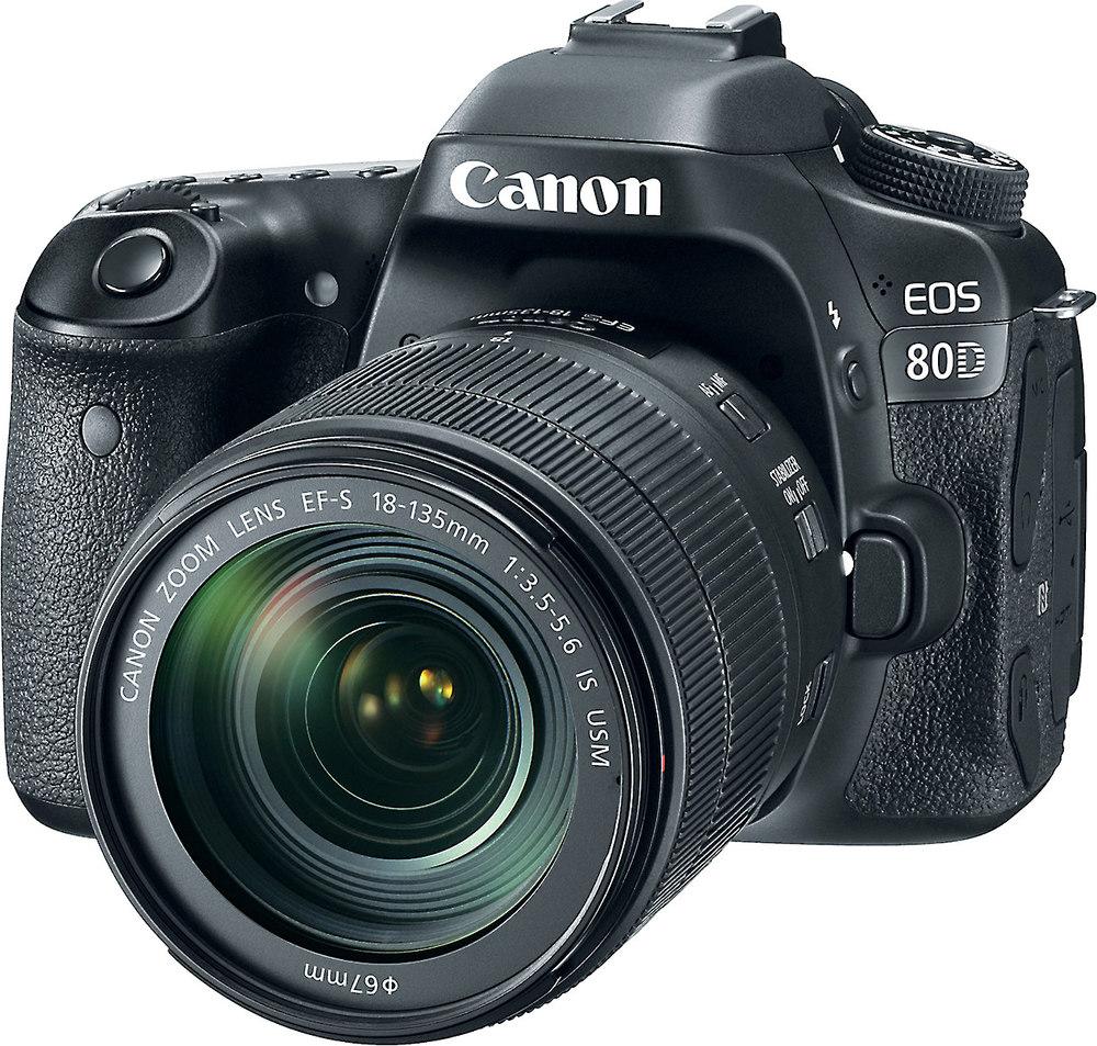 canon eos 80d telephoto lens kit 24 2 megapixel dslr with. Black Bedroom Furniture Sets. Home Design Ideas