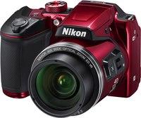 """Nikon Coolpix B500 Camera Red- 16MP, 40X, 3"""" tilt, HD, Wi-Fi, NFC, Bluetooth"""