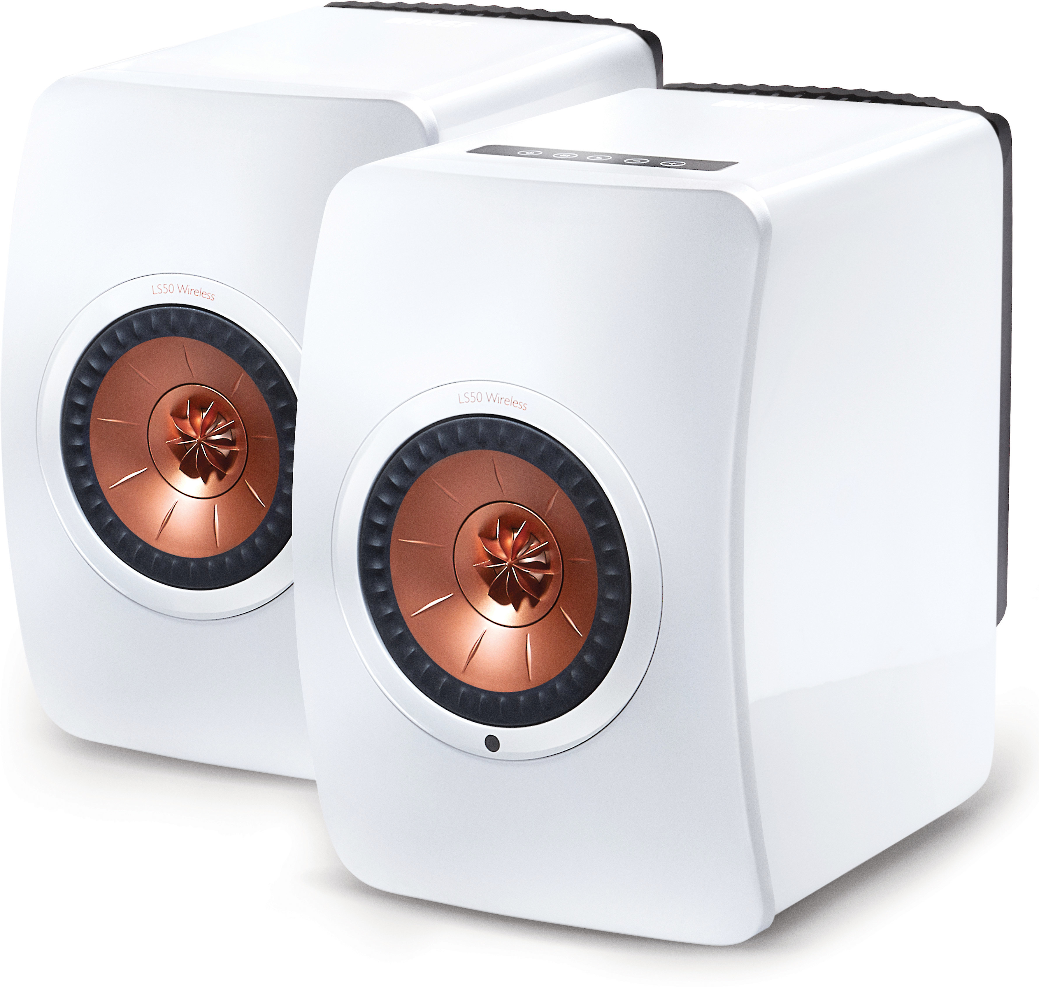 KEF LS50 Wireless (Gloss White/Copper)