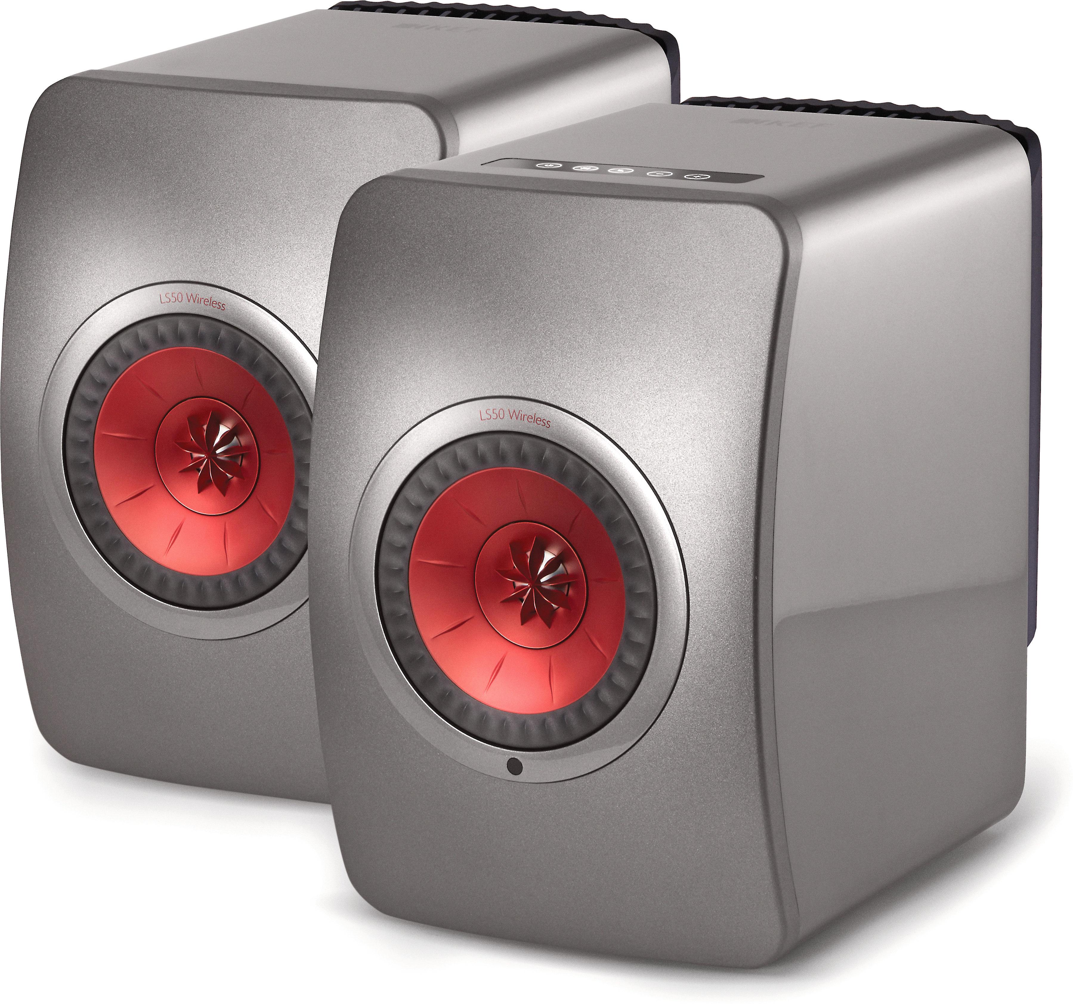 KEF LS50 Wireless (Titanium Grey/Red)