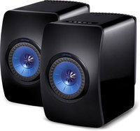 Kef LS50 powered speakers  (Gloss Black/Blue)
