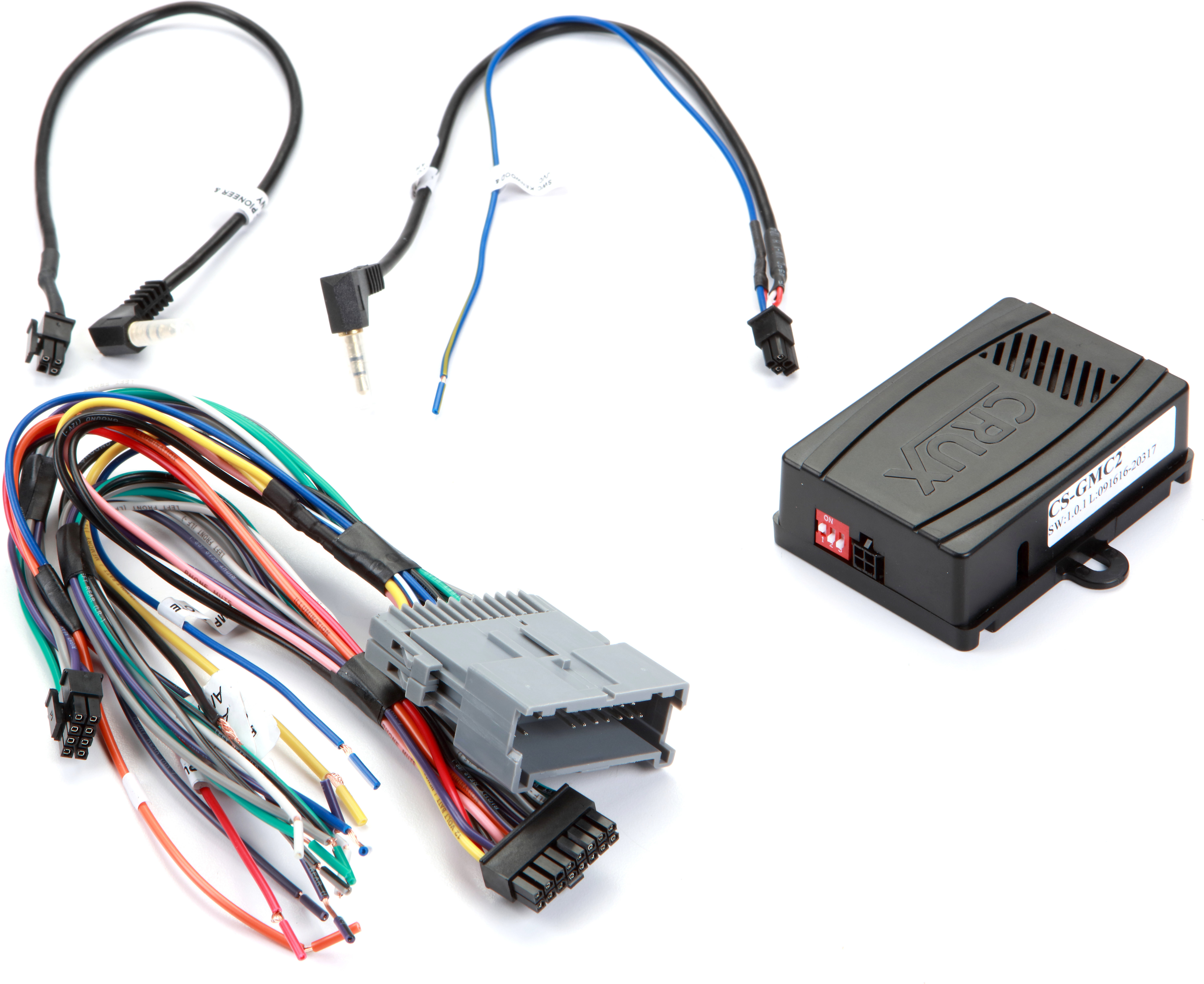 crux cs gmc2 wiring interface connect a new car stereo and retaincrux cs gmc2 wiring interface connect a new car stereo and retain steering wheel controls and factory amp in select 2000 2013 gm made vehicles at