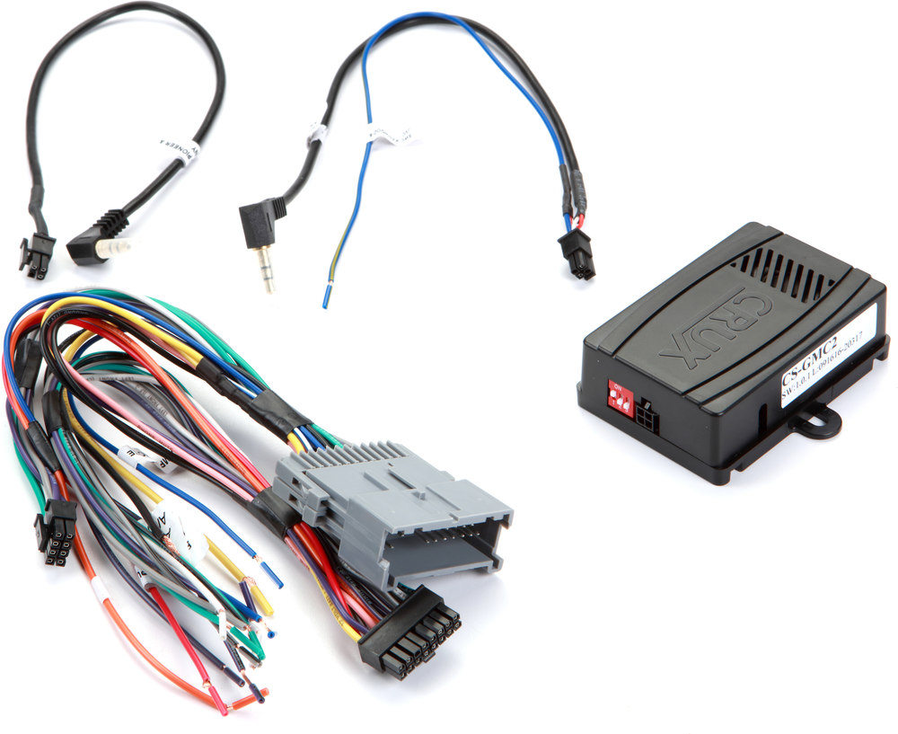 Crux Cs Gmc2 Wiring Interface Connect A New Car Stereo And Retain 1963 Cadillac Harness Steering Wheel Controls Factory Amp In Select 2000 2013 Gm Made Vehicles At