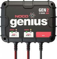 NOCO Genius GEN2  2-Bank 20 Amp On-Board Battery Charger