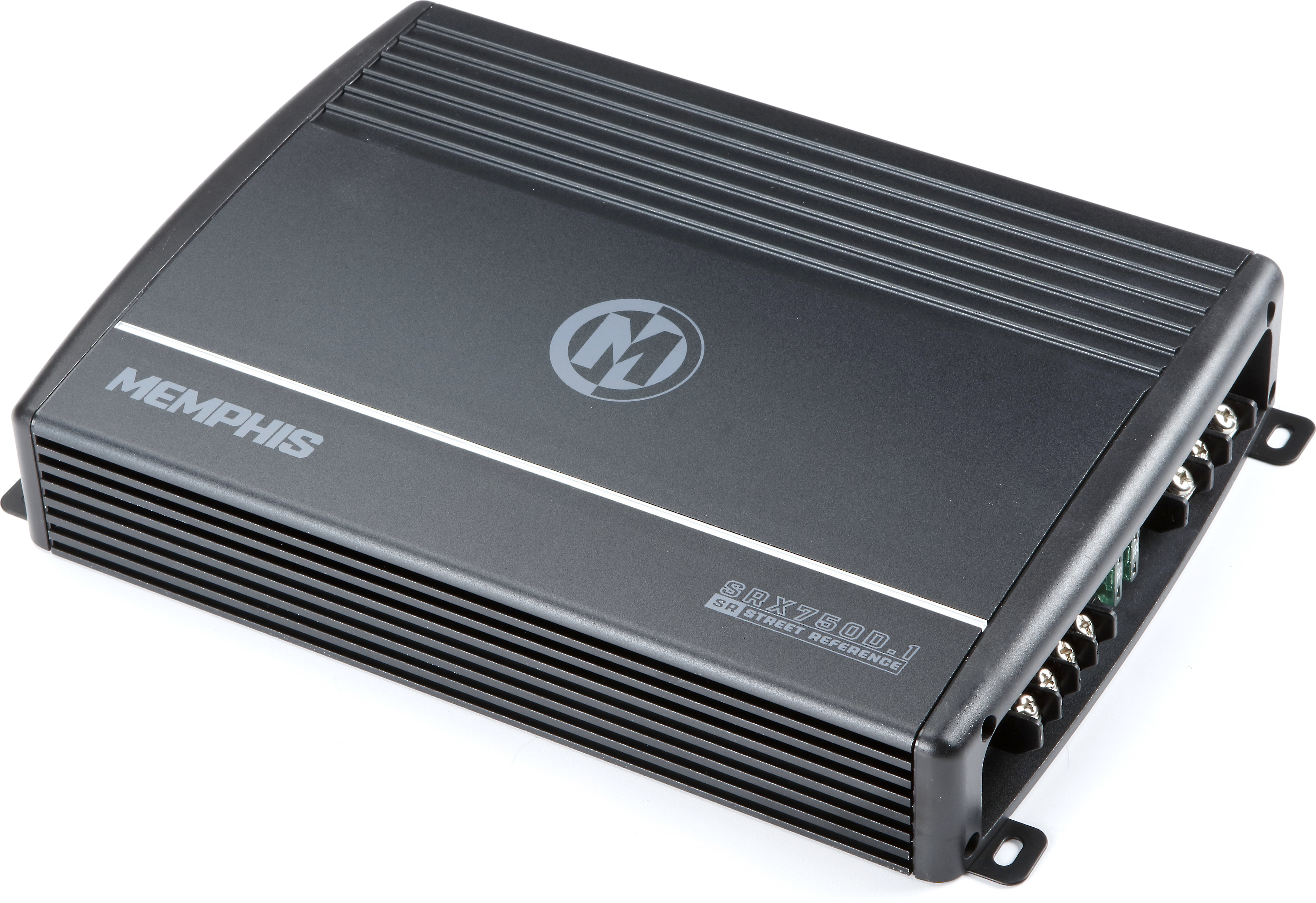 memphis audio 16 srx750d 1 street reference mono subwoofer amplifier 750 watts rms x 1 at 2 ohms at crutchfield crutchfield