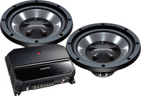 Kenwood P-W1021  Amplifier/Subwoofer Package