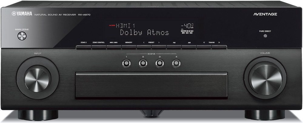 Yamaha aventage rx a870 7 2 channel home theater receiver for Yamaha pure direct