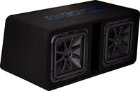 "Kicker 44DL7S122  Dual 12"" Vented Loaded Enclosure"