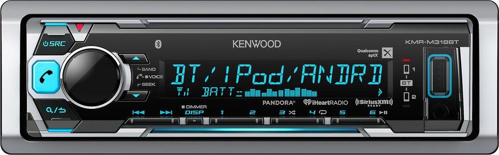 x113KM318BT F 1 kenwood kmr m318bt marine digital media receiver with bluetooth kenwood kmr-m308bt wiring diagram at bayanpartner.co