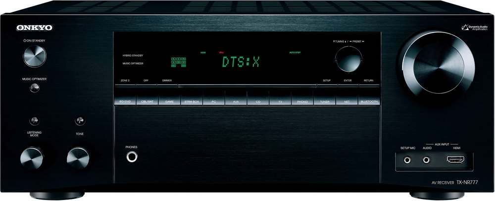 onkyo 777. onkyo tx-nr777 7.2-channel home theater receiver with wi-fi®, bluetooth®, dolby atmos®, and dts:x™ at crutchfield.com 777 s