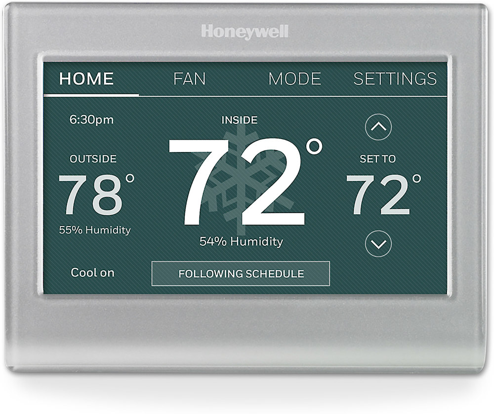 Honeywell Wi-Fi® Smart Thermostat Smart thermostat with variable screen  color at Crutchfield.com