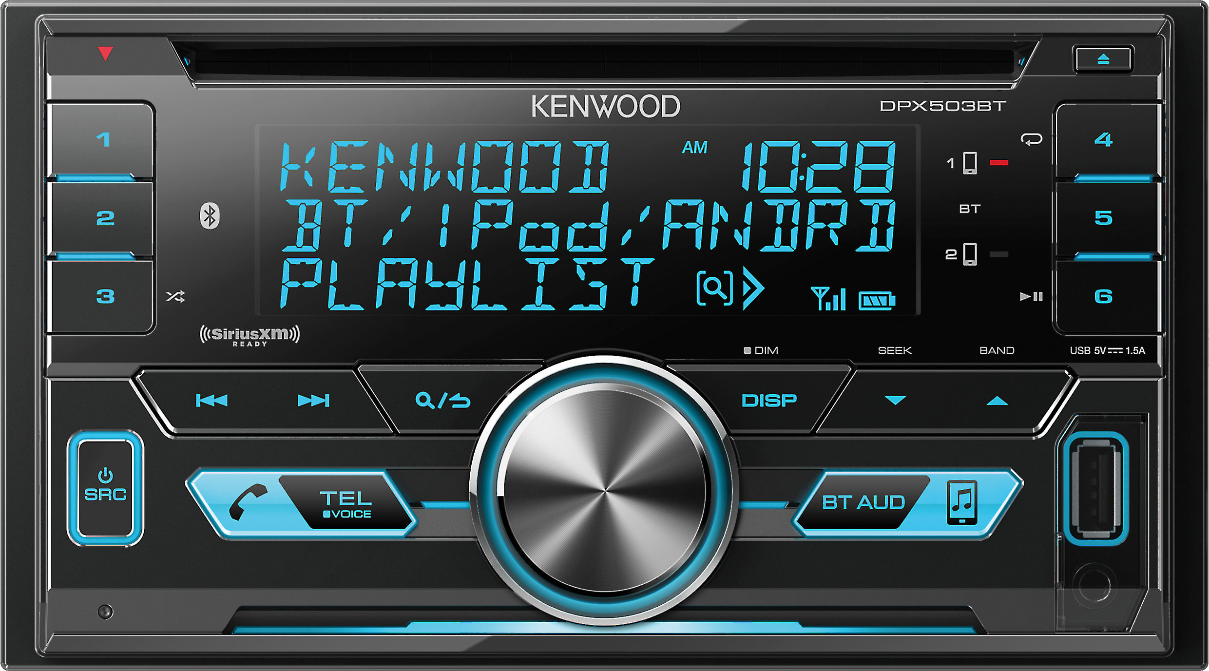 Kenwood DPX503BT CD receiver at Crutchfield