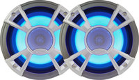 "Clarion CMQ1622RL  Marine 6.5"" Speakers with Blue LED"