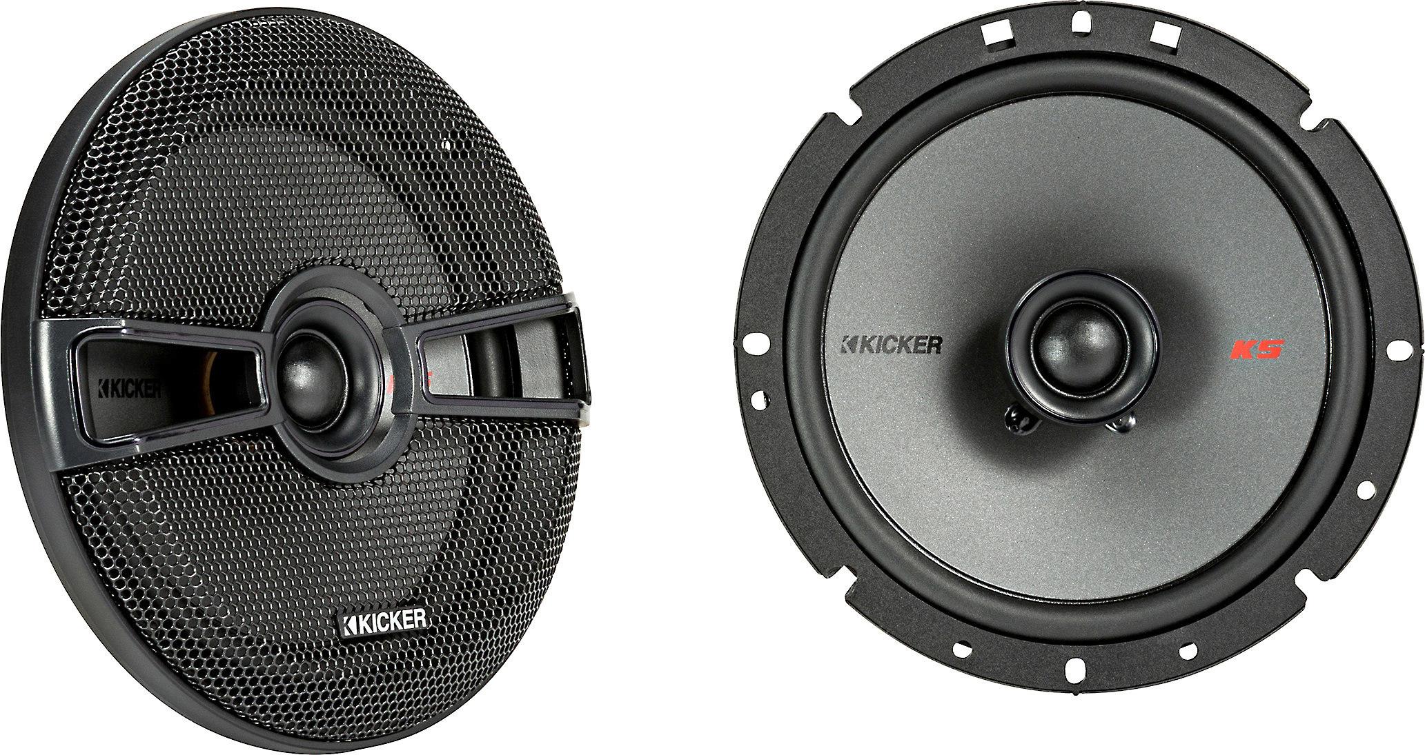2 pairs of Kicker 6.75 Inch KS-Series Speakers 41KSC674 Kicker Speaker Bundle
