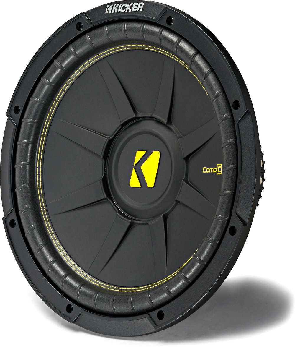 """Kicker 44CWCD124 CompC Series 12"""" subwoofer with dual 4-ohm voice coils at  Crutchfield.com"""