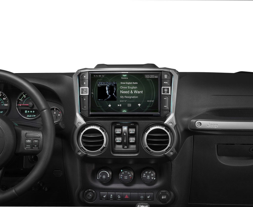 Alpine I209 Wra In Dash Restyle System Custom Fit Digital Multimedia 2014 Jeep 430 Uconnect Wiring Diagram Receiver With 9 Screen For Select 2011 17 Wrangler Jk And Unlimited