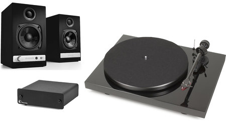 Audioengine HD3/Pro-Ject Debut Carbon/Phono Box DC Bundle