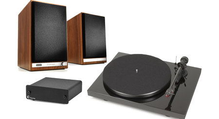 Audioengine HD6/Pro-Ject Debut Carbon/Phono Box Bundle