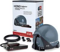 King Controls VQ4550  Tailgater DISH Antenna and Receiver