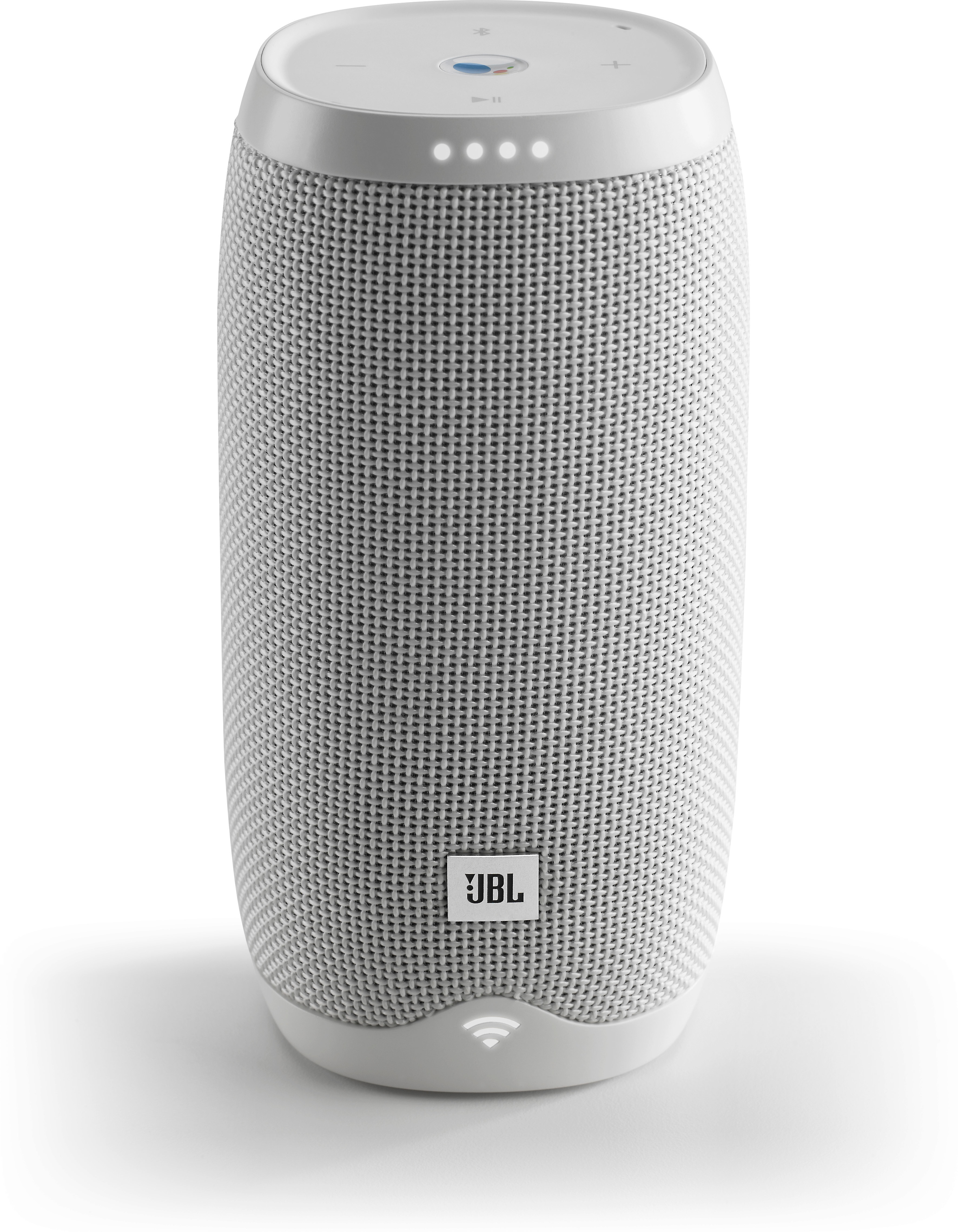 bc71333127ffc5 JBL LINK 10 (White) Waterproof portable speaker with Google Assistant,  Chromecast built-in, and Bluetooth® at Crutchfield