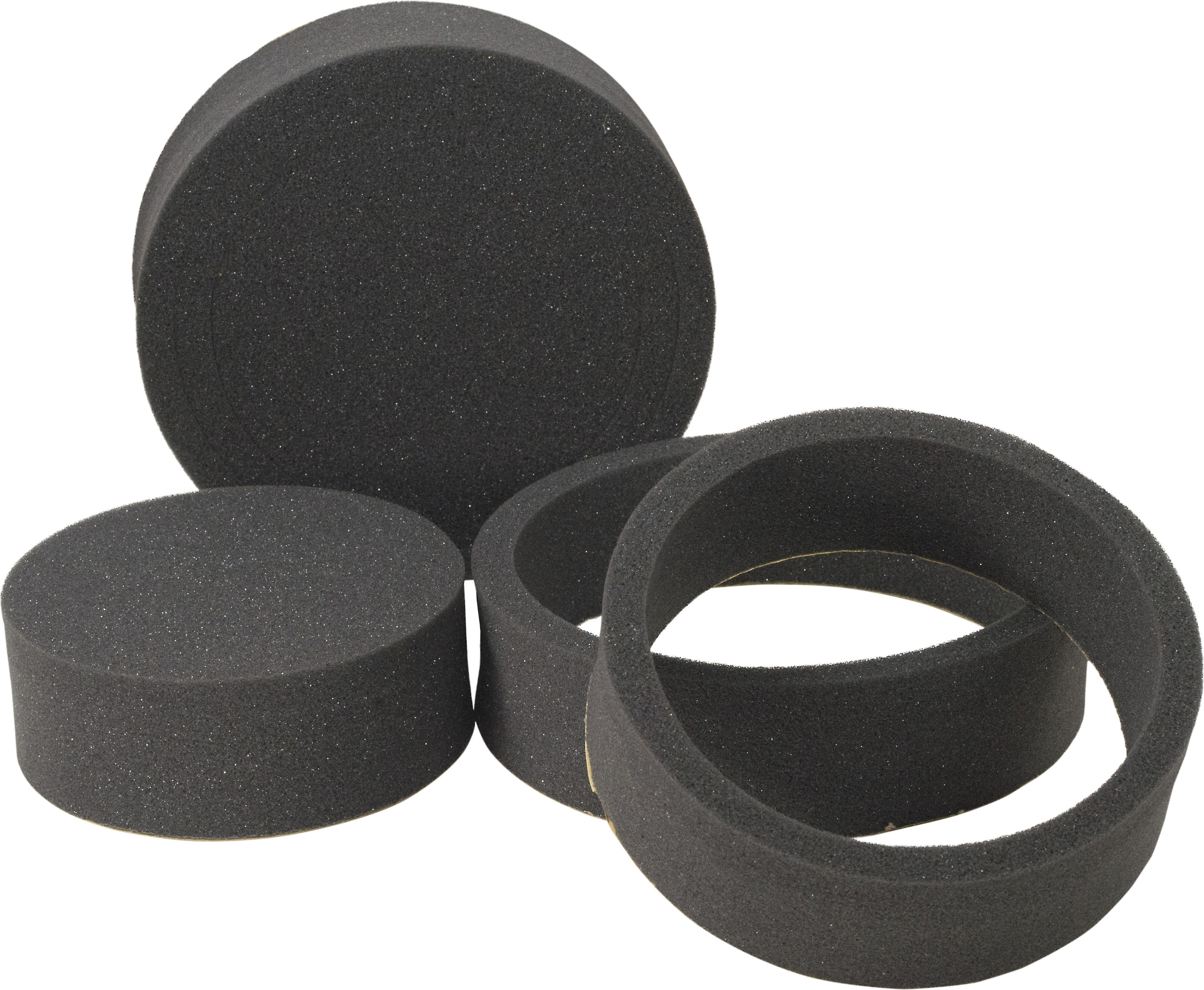 """Stinger Roadkill RKFR8 FAST Rings 8-piece foam baffle kit — enhance the  sound of your new 8"""", 8-8/8"""", or 8-8/8"""" speakers at Crutchfield"""