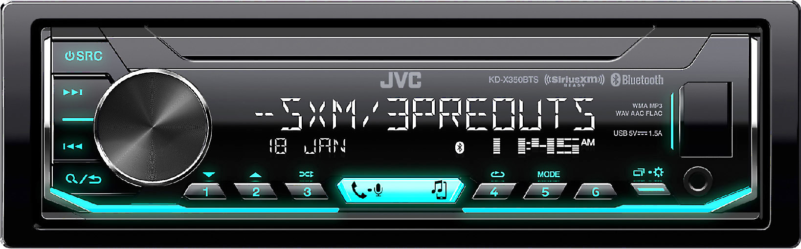 buy cheap 4a3ff be9be JVC KD-X350BTS Digital media receiver (does not play CDs) at Crutchfield.com