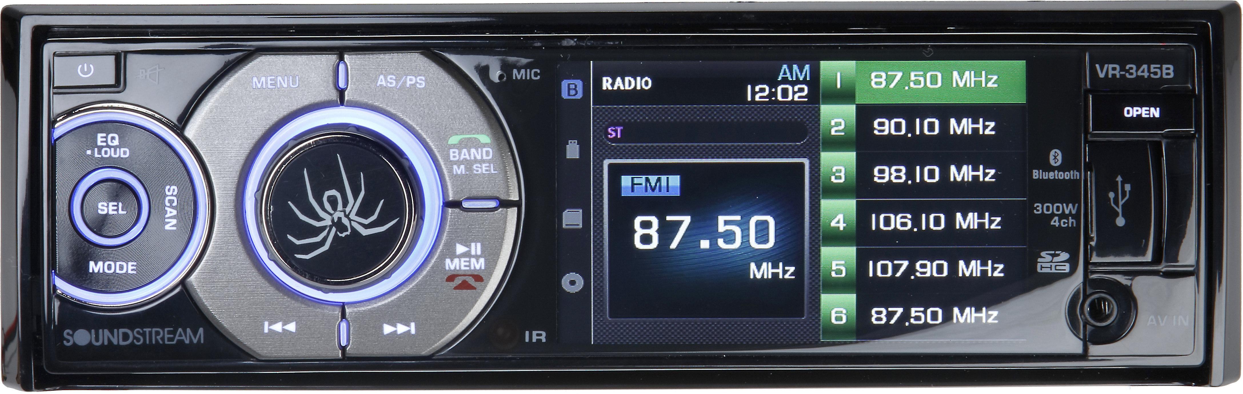 "Single DIN with Detachable 3.4/"" LCD Screen//Bluetooth W// MINI REAR VIEW CAMERA"