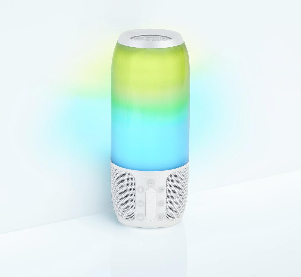 Jbl pulse 3 white portable bluetooth speaker at for Housse jbl pulse 3