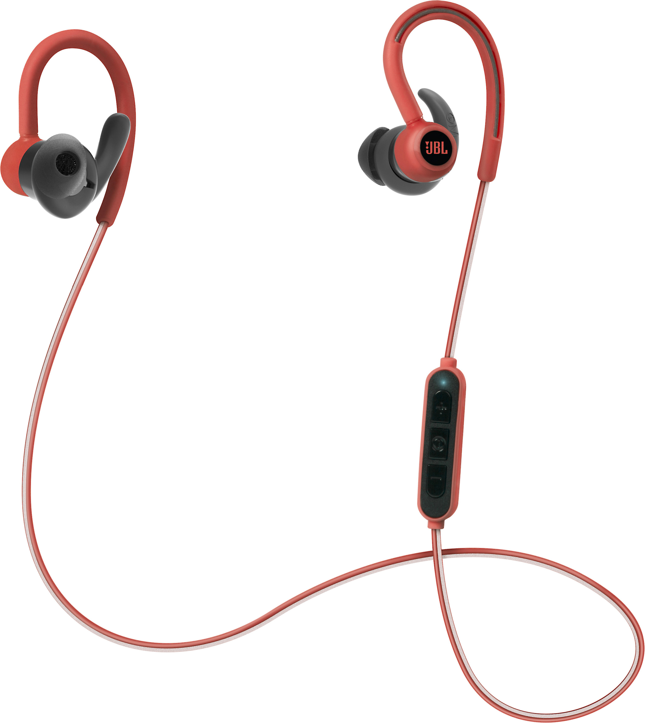 893565b3246 JBL Reflect Contour (Red) Behind-the-ear wireless Bluetooth® sports  headphones at Crutchfield.com