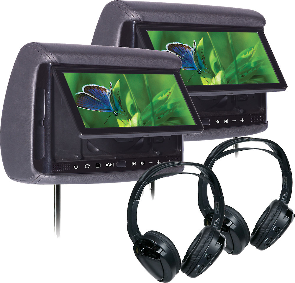 Concept Bsd905mpkg Bundle Two 9 Headrest Monitors And Pairs Of Nissan Monitor Wiring Harness Headphones At