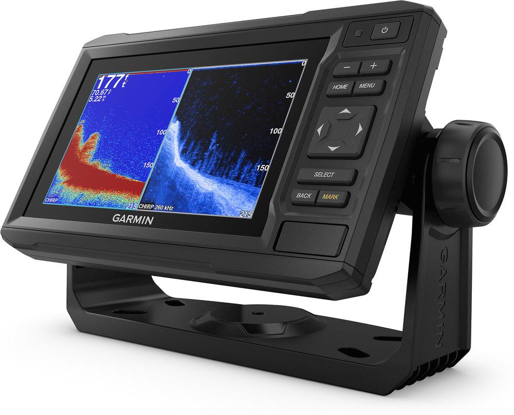 "Garmin echoMAP Plus 64cv 6.2"" chartplotter with CHIRP and CHIRP ClearVü  scanning sonar, plus preloaded BlueChart g2 coastal maps at Crutchfield.com"
