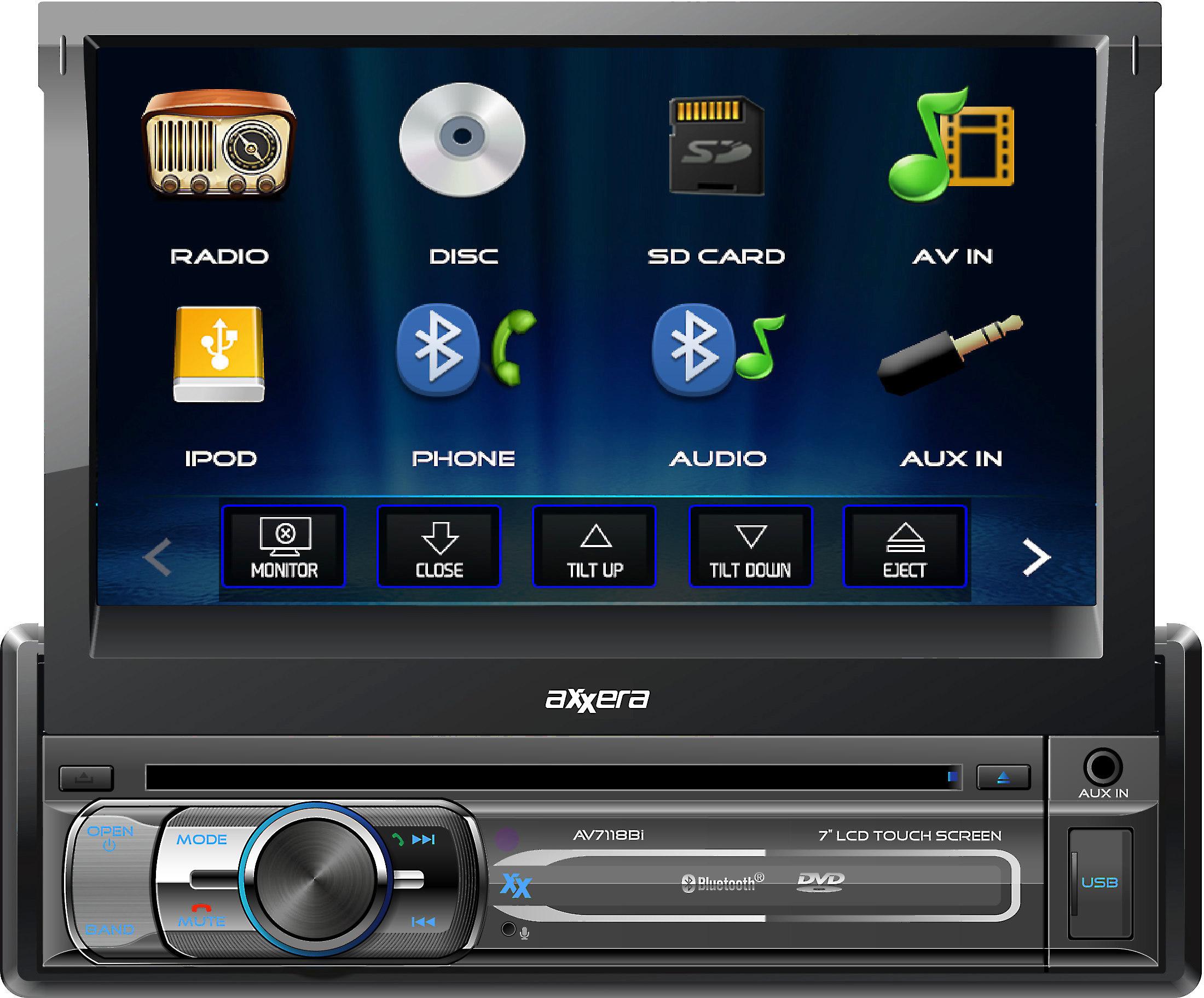 13f80ca1ee57 Axxera AV7118Bi DVD receiver at Crutchfield.com
