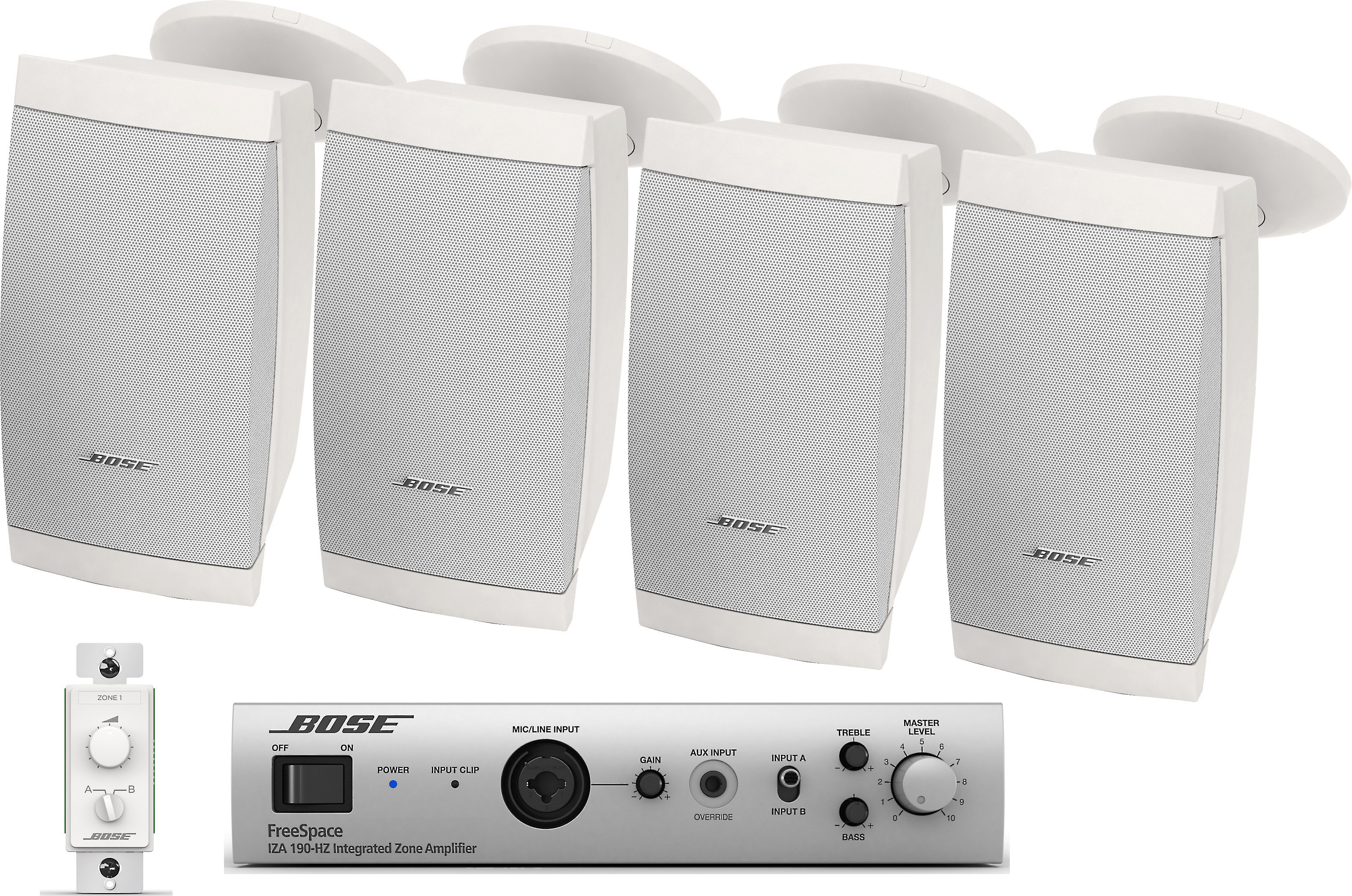 Bose Sound System >> Bose Retail Sound System Zone Amplifier Volume Control And Four