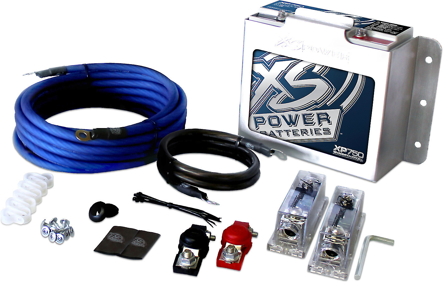 Xs Power Xp750ck Complete Secondary Battery Kit For Car Audio And