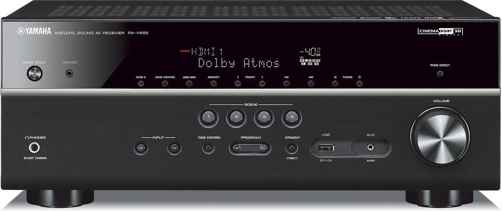yamaha rx v685 7 2 channel home theater receiver with wi. Black Bedroom Furniture Sets. Home Design Ideas