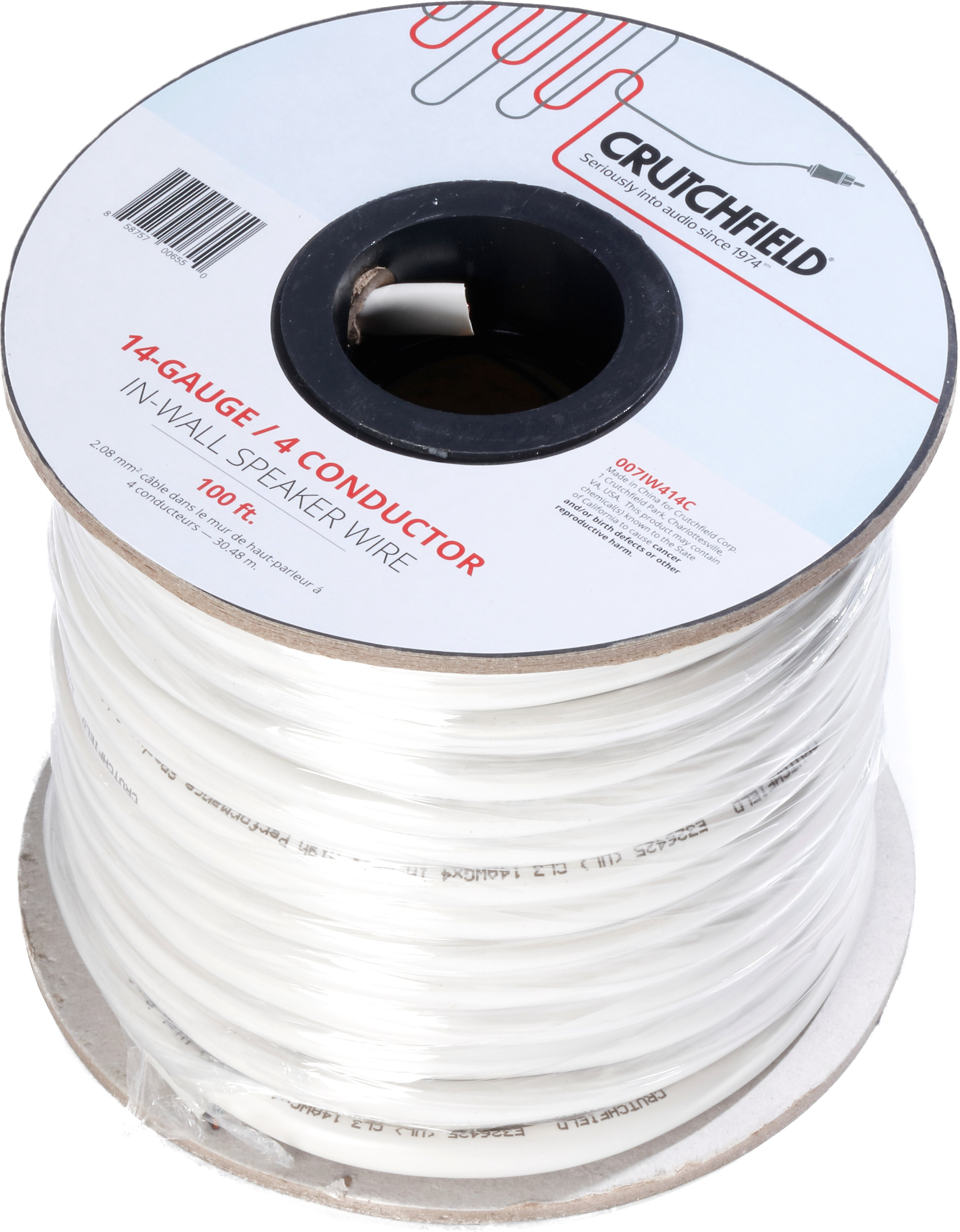 500 Foot Roll Crutchfield 14 Gauge in-Wall 2 Conductor Wire