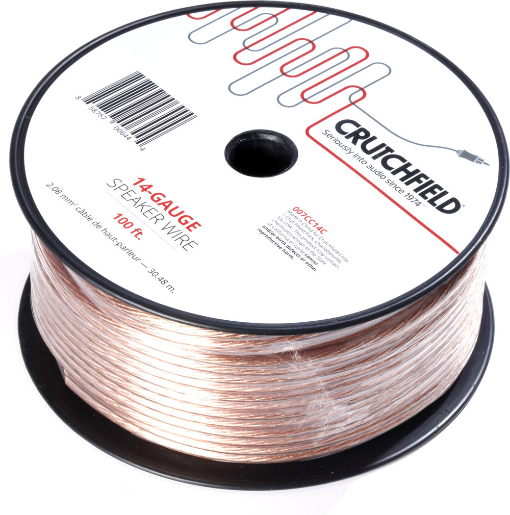Crutchfield speaker wire gauge wire center crutchfield speaker wire 100 ft roll 14 gauge wire at crutchfield com rh crutchfield com speaker wire gauge chart speaker wire gauge thickness keyboard keysfo Choice Image