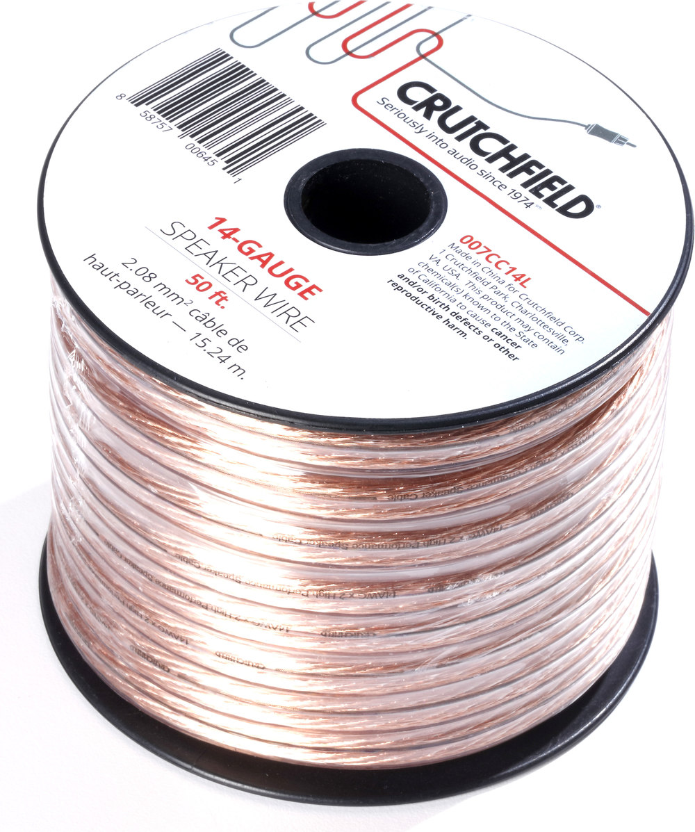 Crutchfield Speaker Wire (50-ft. roll) 14-gauge wire at Crutchfield.com