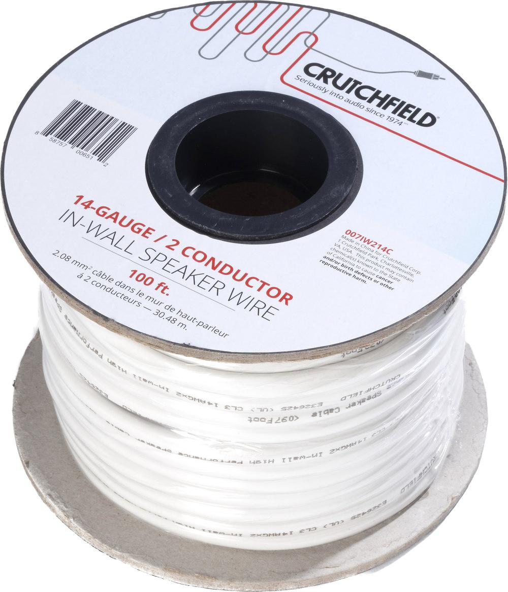 Crutchfield in wall speaker wire ft roll gauge