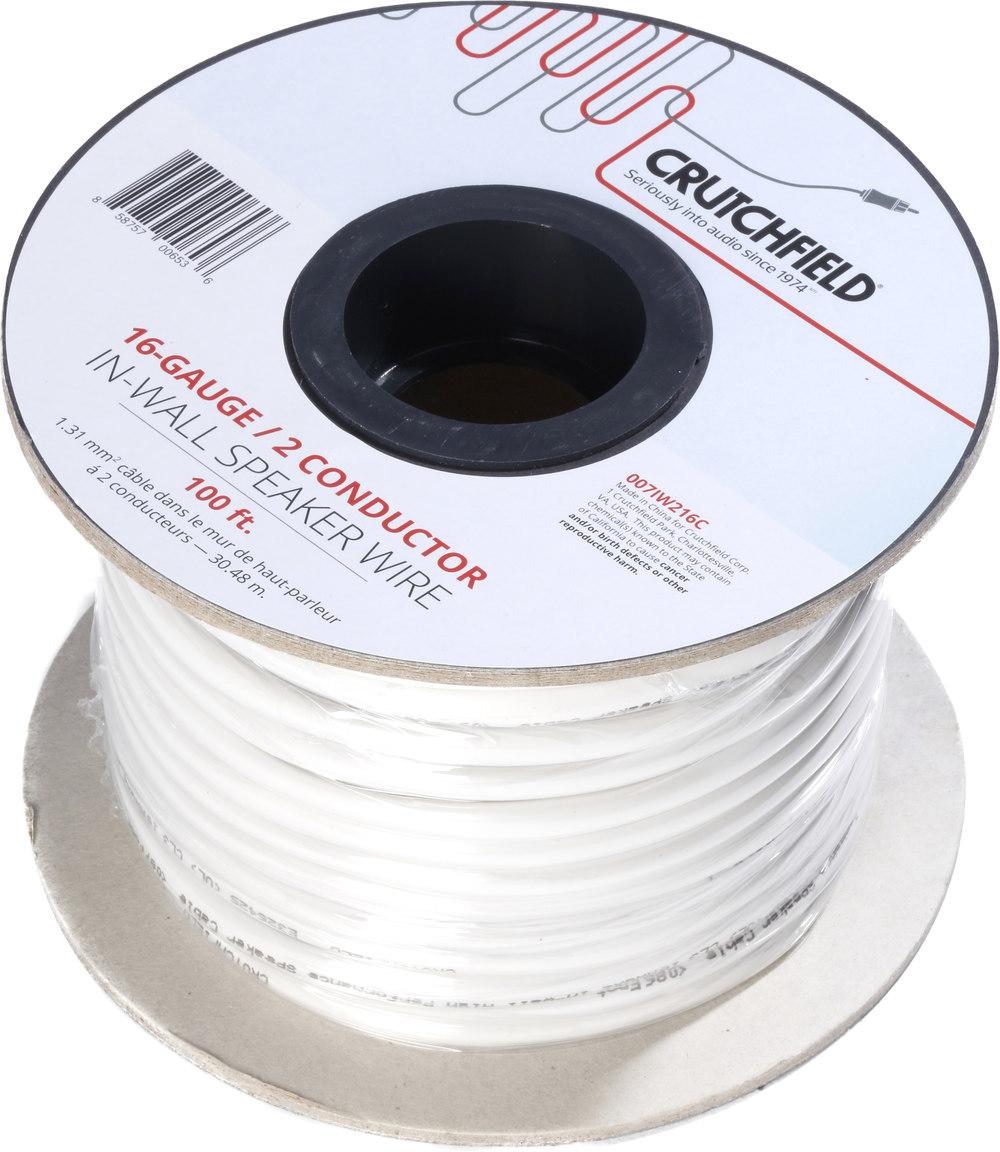 Crutchfield In-wall Speaker Wire (100-ft. roll) 16-gauge, 2 ...
