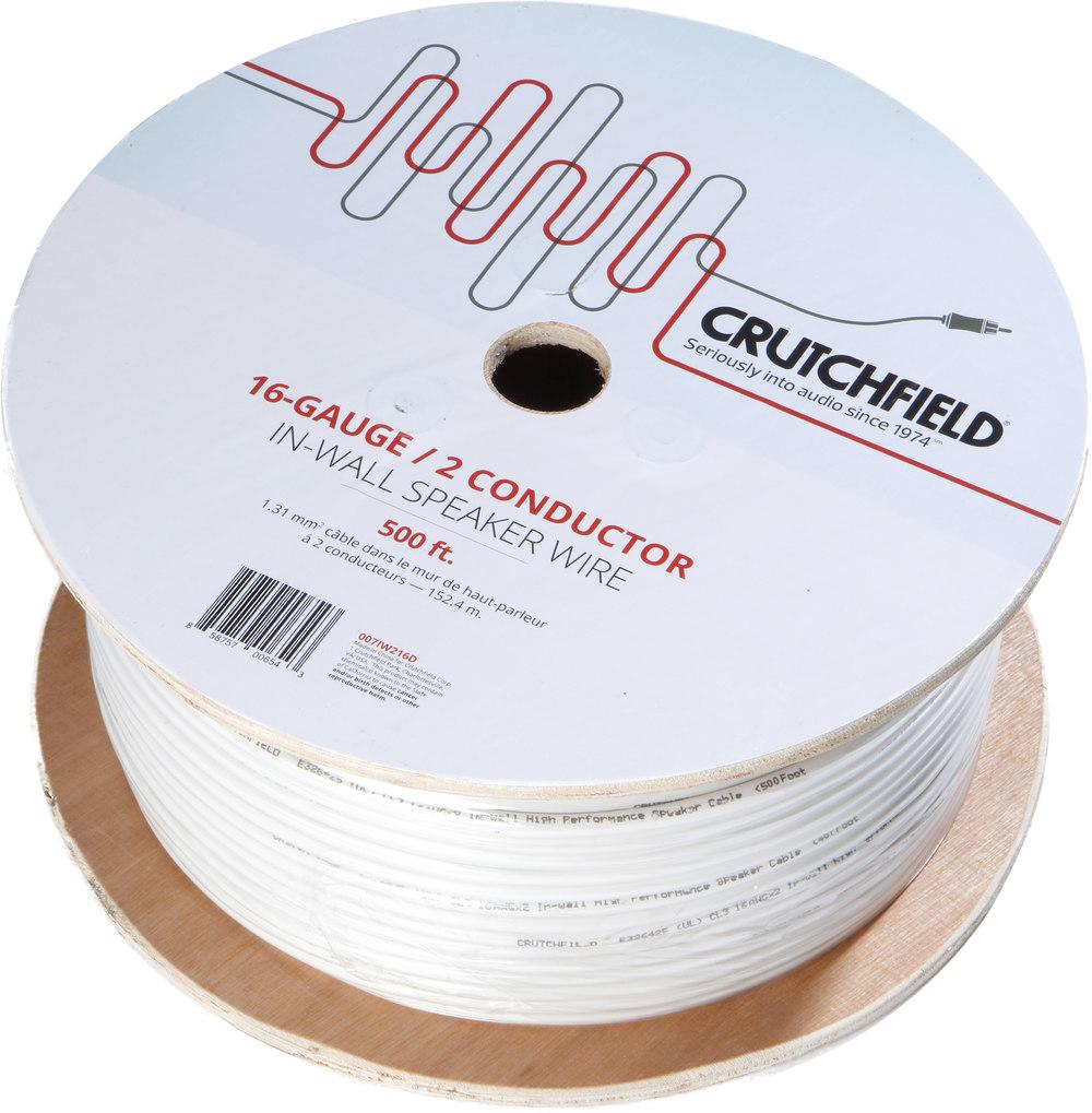 crutchfield subwoofer wiring diagram: crutchfield in-wall speaker wire  (500-ft