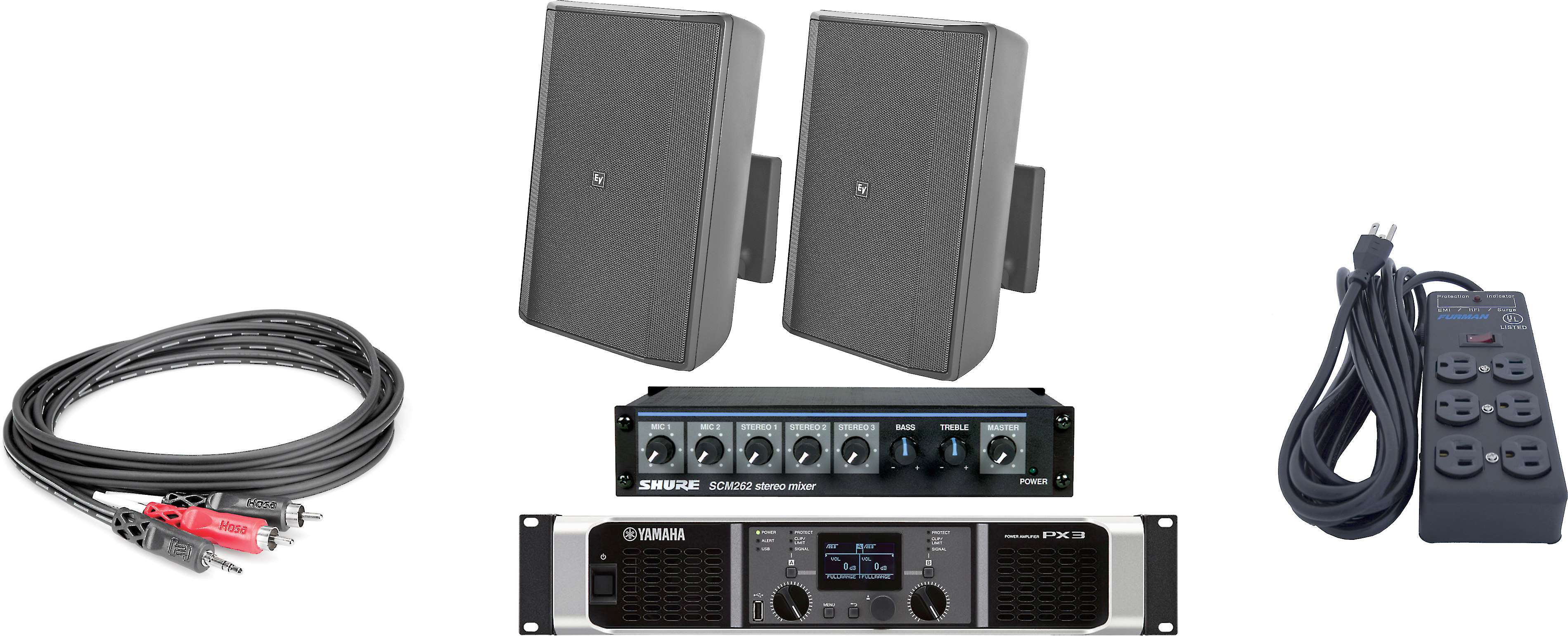 Electro voice gym sound system bundle fill your workout space with