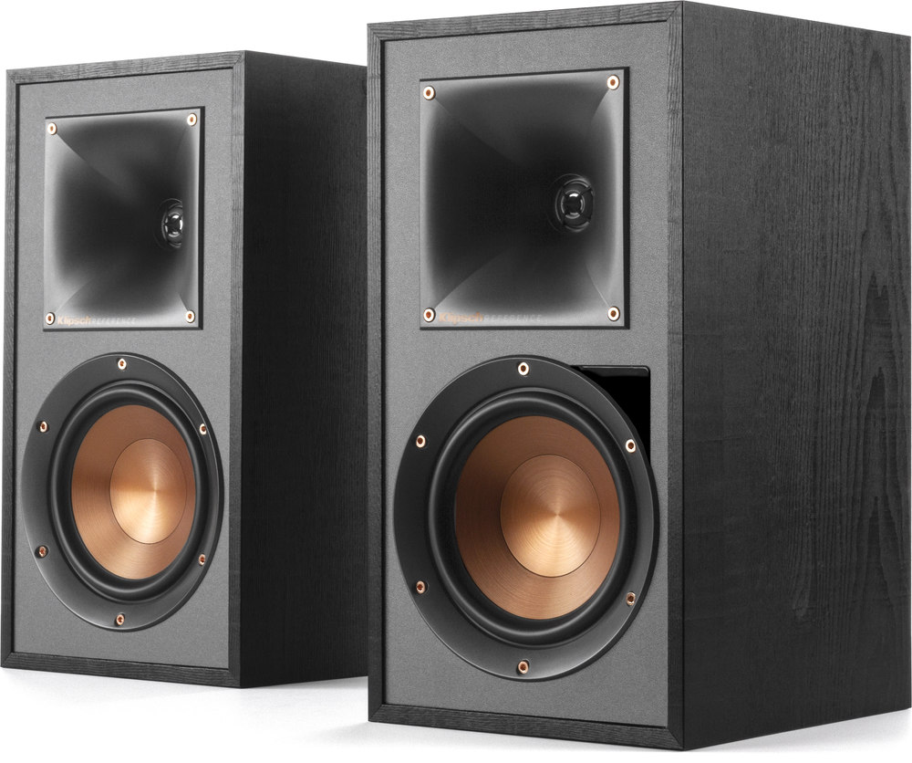 Klipsch Reference R 51pm Powered Bookshelf Speakers With Bluetooth 2 Way Phono Switch Box And Built In Preamp At