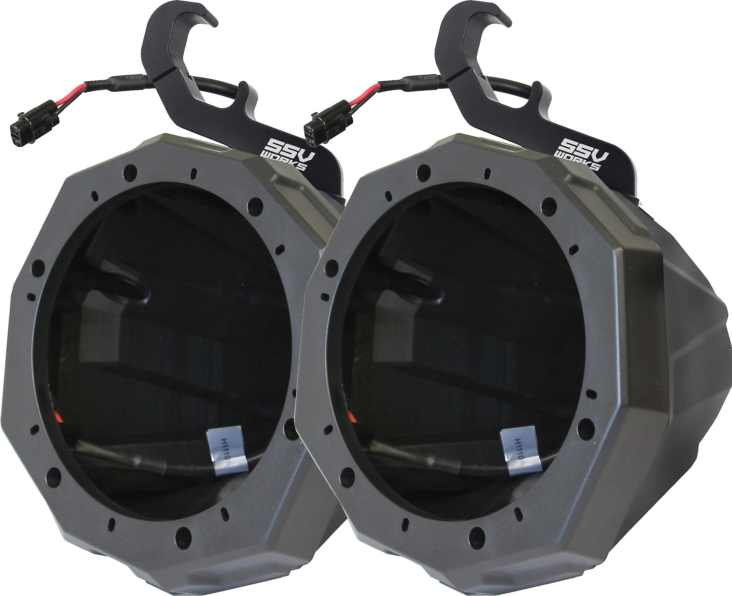 SSV Works Front Kick Speaker Pods Unloaded Pair for 2016-2018 Polaris General