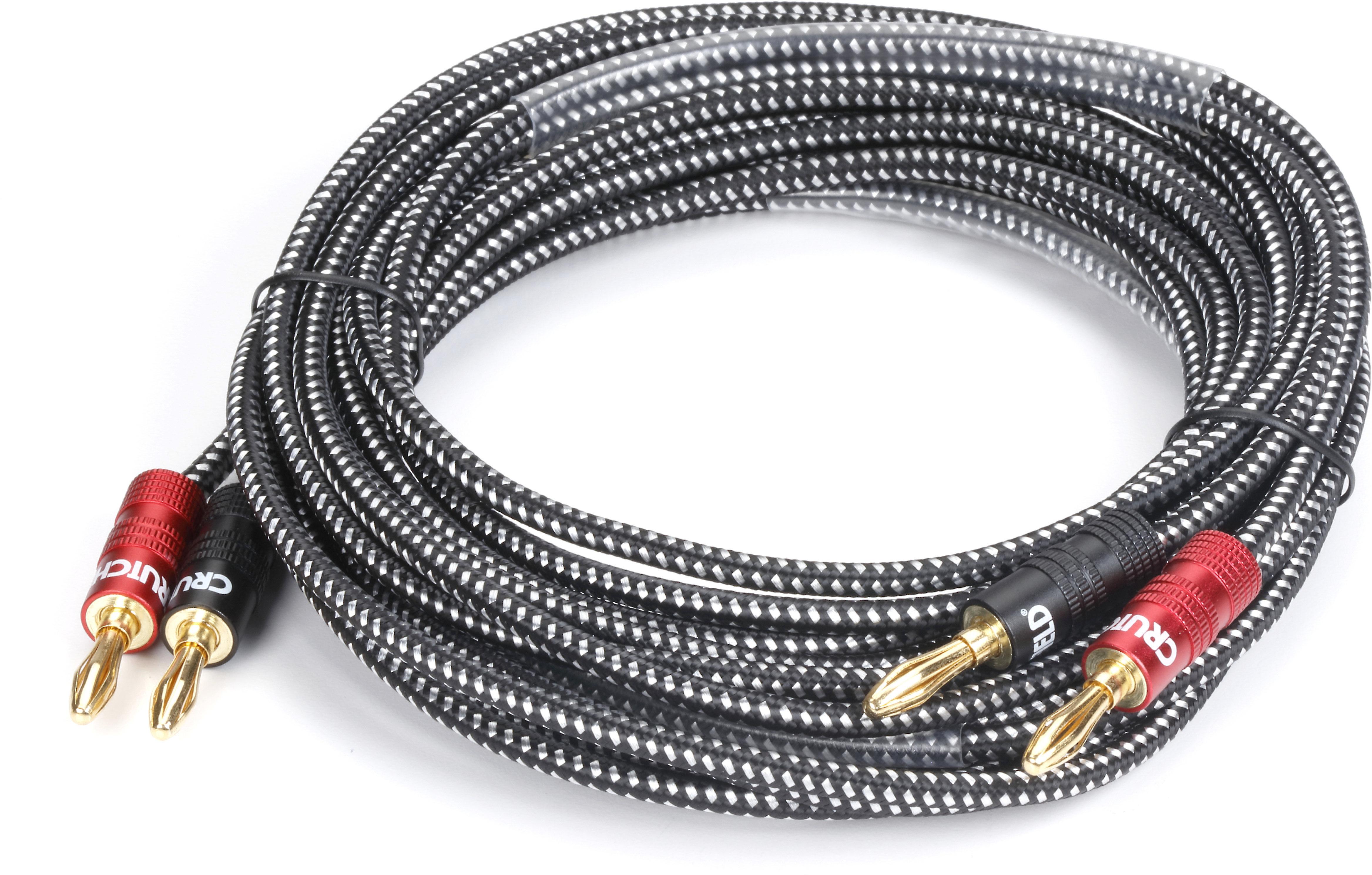 Crutchfield Speaker Wire (9 feet) Single 9-gauge speaker wire with  pre-attached banana plugs at Crutchfield