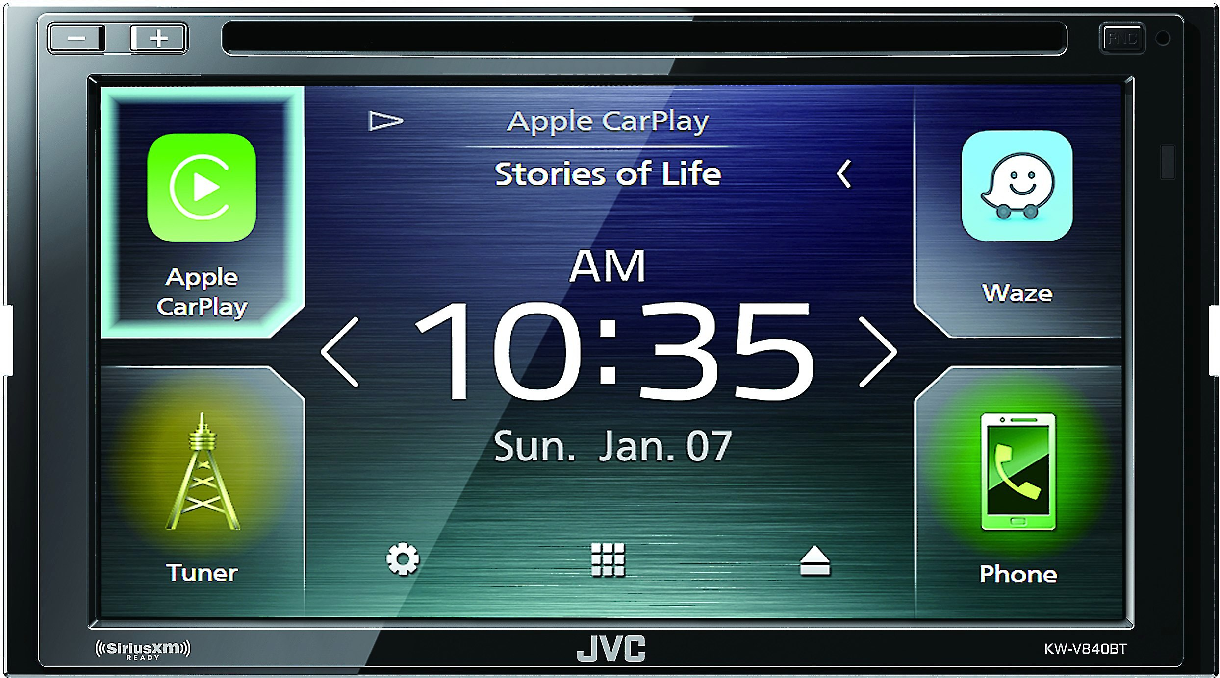 JVC KW-V640BT 6.8 Clear Resistive Touch Monitor//WebLink//Bluetooth //13-Band EQ//JVC Remote App KWV640BT