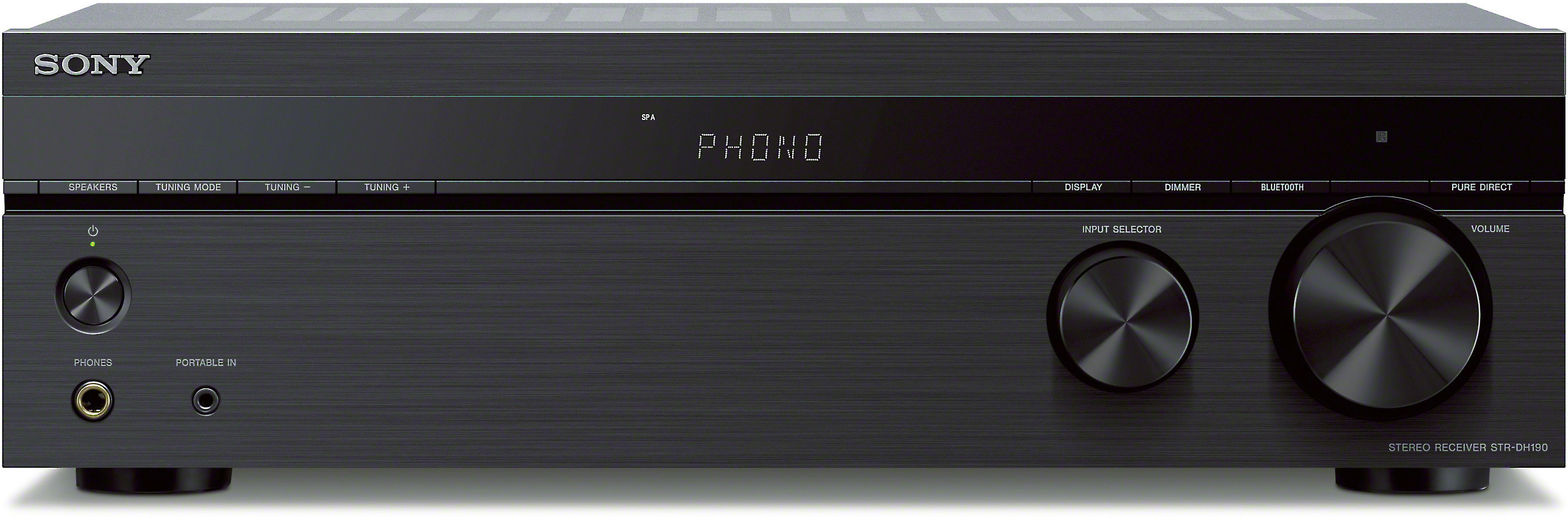 Sony 2-Channel Stereo Receiver with Bluetooth Phono /& Aux Input STR-DH190