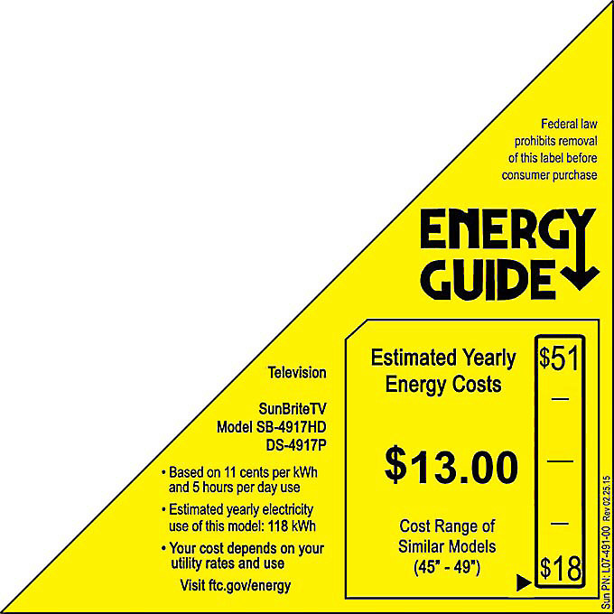 EnergyGuide label