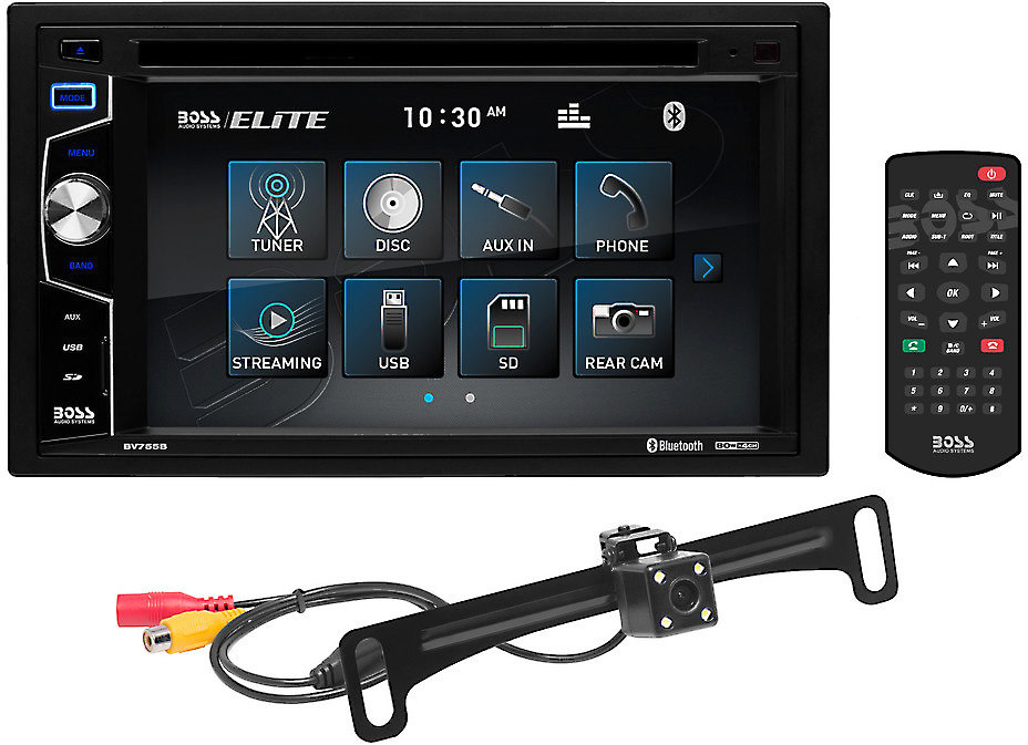 Boss BV755BLC DVD receiver with rear-view camera at CrutchfieldCrutchfield