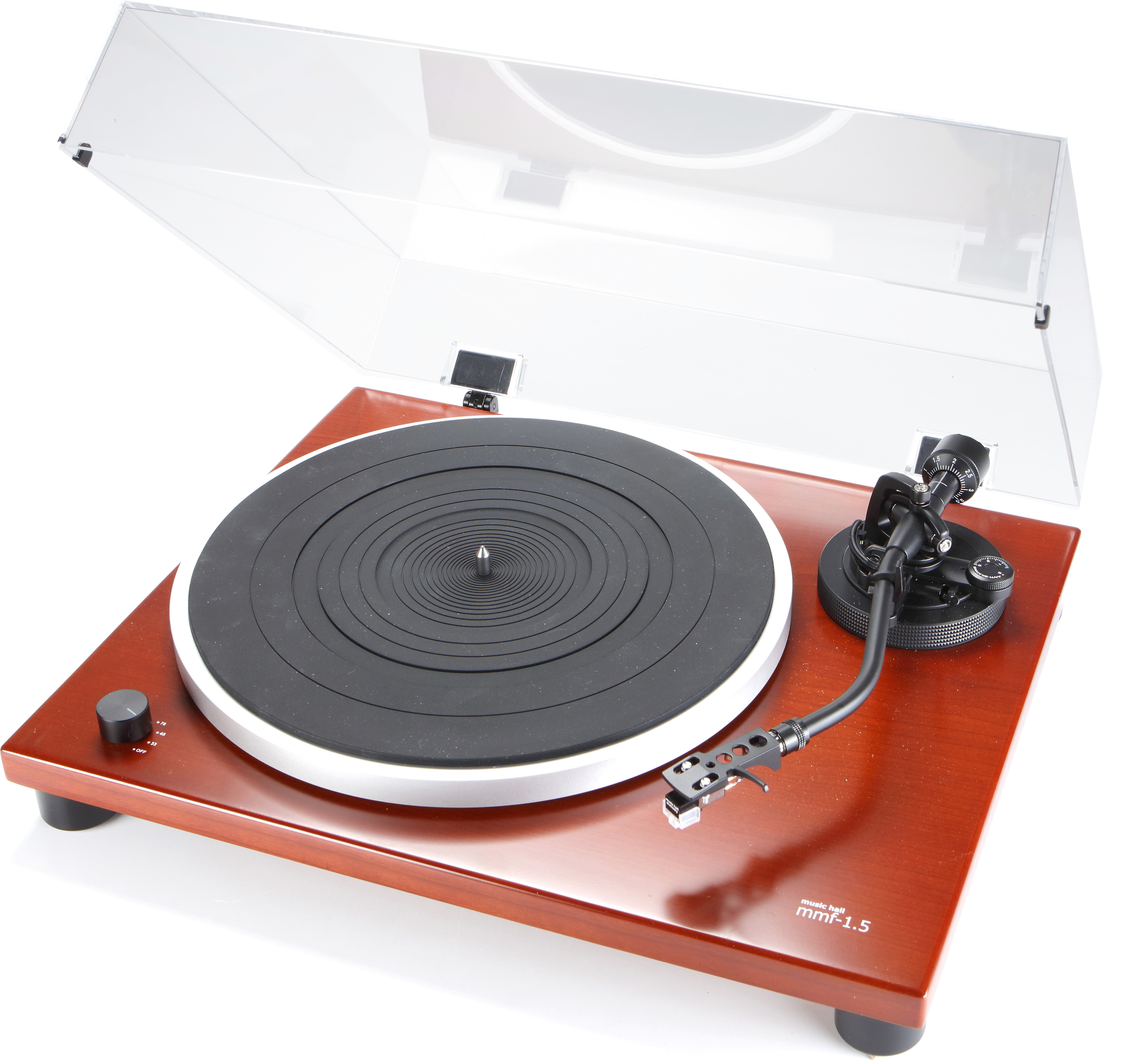 Music Hall MMF 1.5 Manual belt drive turntable with built in phono preamp at Crutchfield